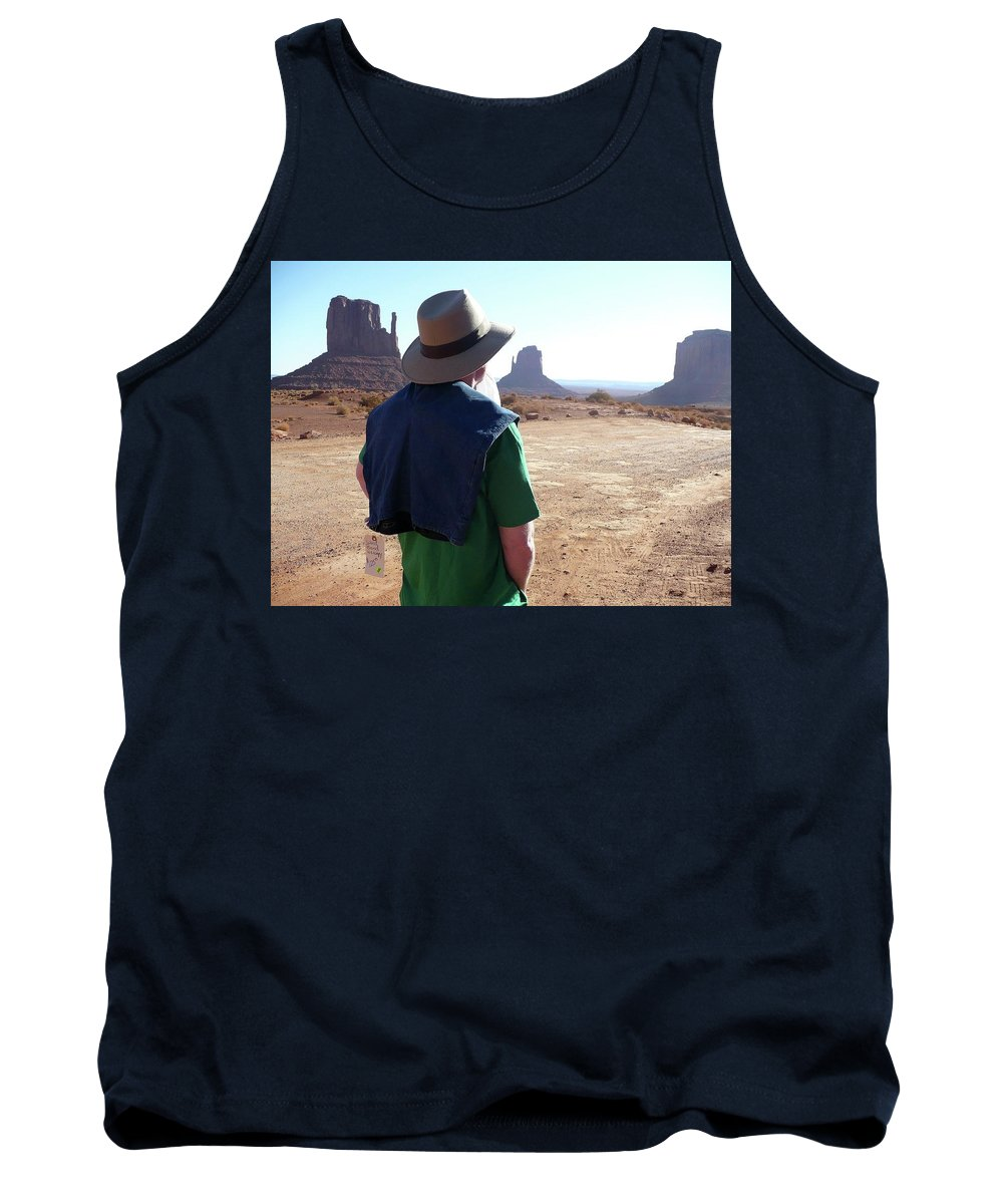 Western Tank Top featuring the photograph John Ford Country by Scott Nollen