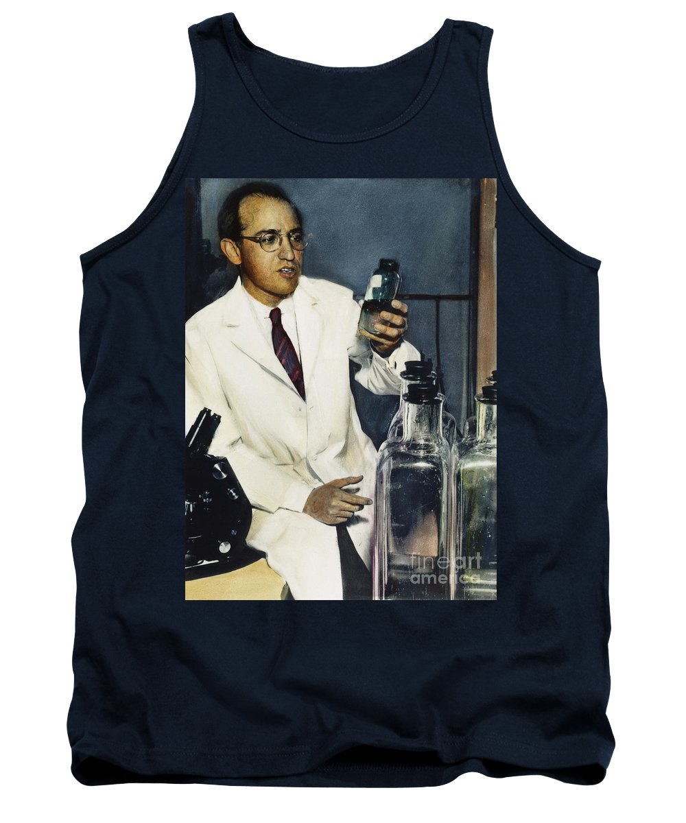 1950s Tank Top featuring the photograph Jonas Salk (1914-1995) by Granger