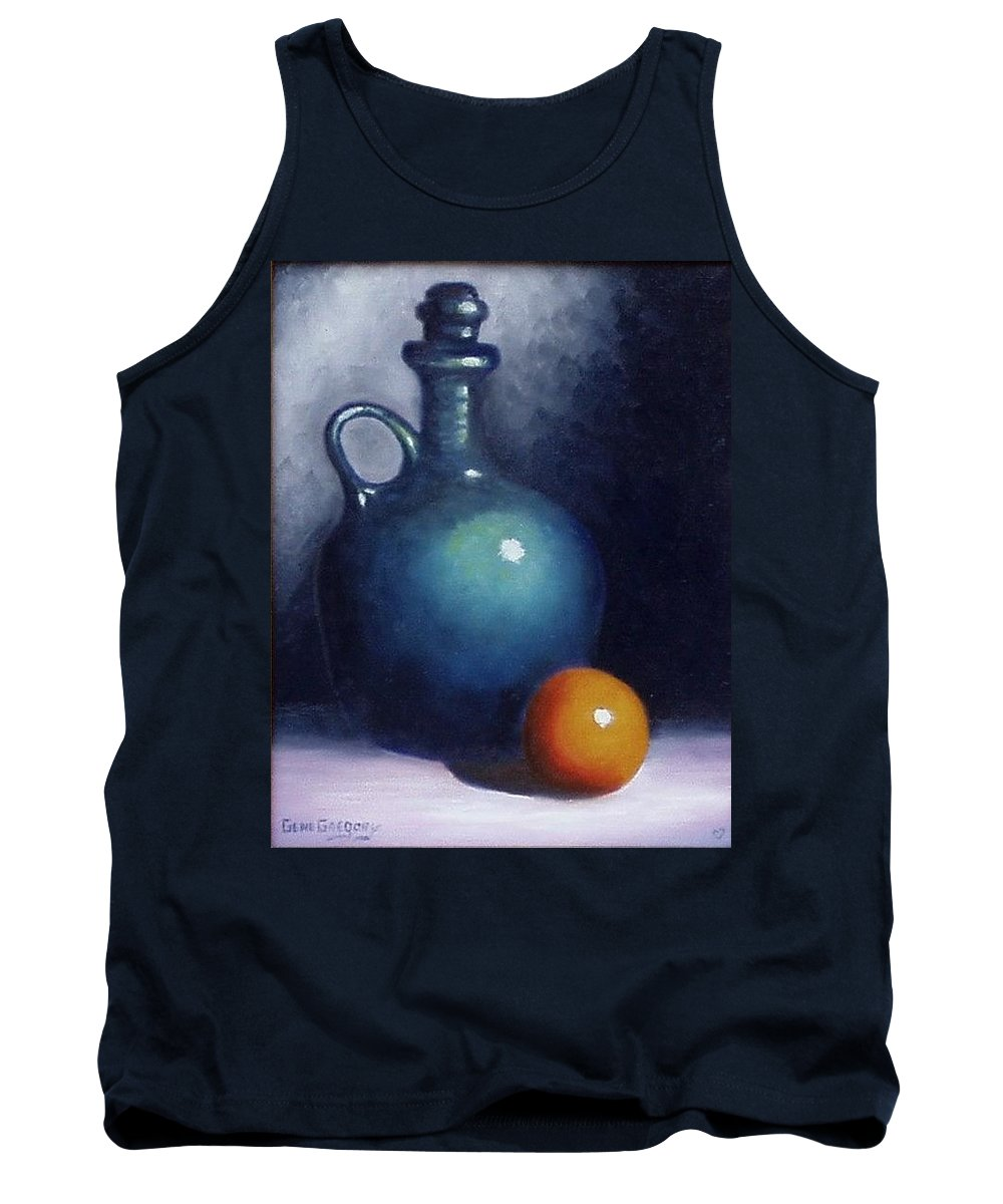 Still Life. Tank Top featuring the painting Jug And Orange. by Gene Gregory