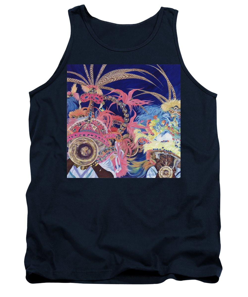 Bahamas Tank Top featuring the painting Junkanoo by Danielle Perry