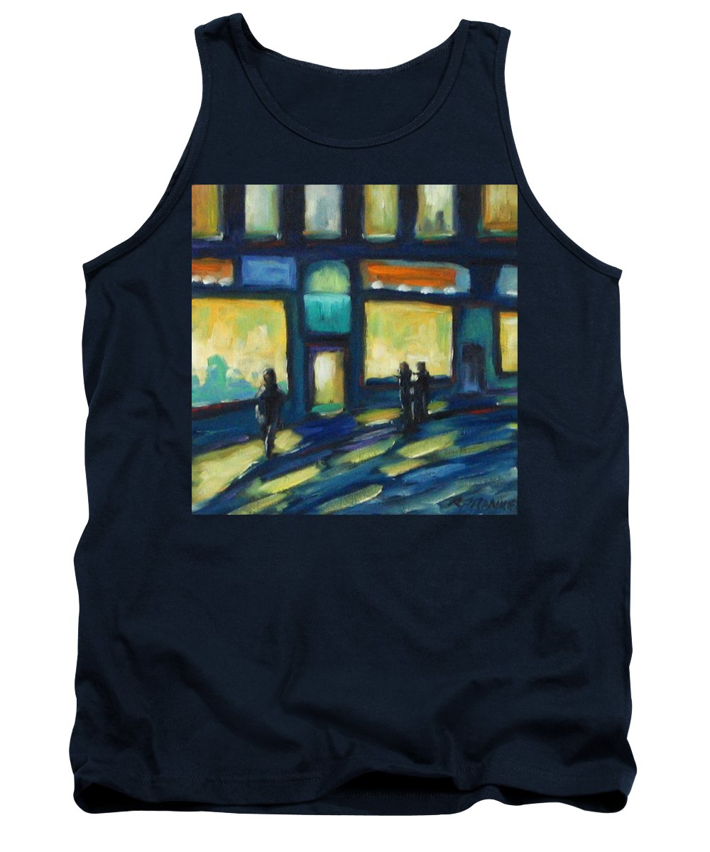 Town Tank Top featuring the painting Just Looking by Richard T Pranke