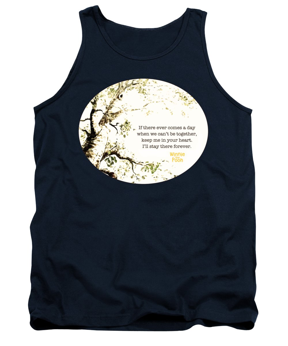 Winnie The Pooh Tank Top featuring the digital art Keep Me In Your Heart by Nancy Ingersoll