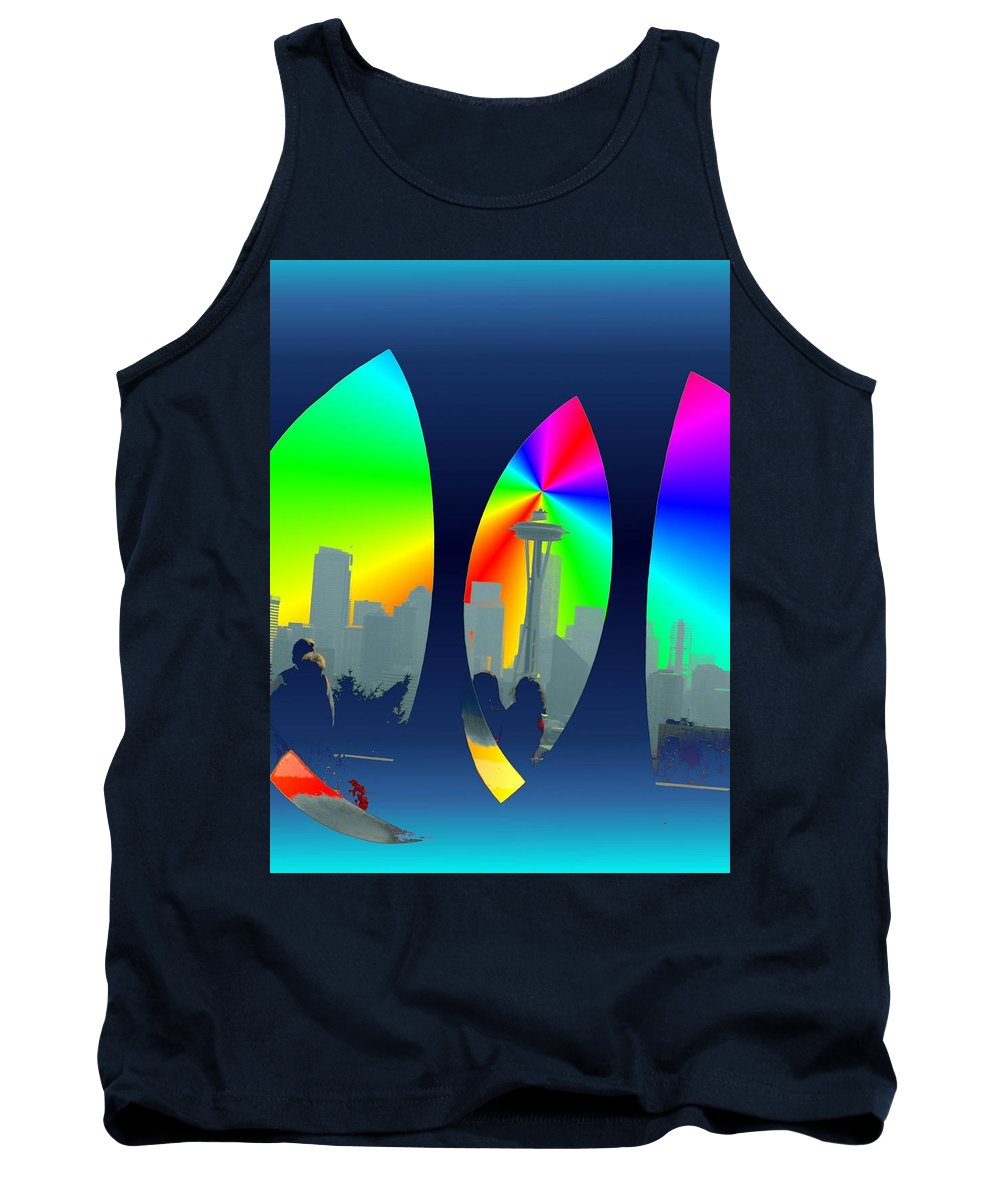 Seattle Tank Top featuring the digital art Kerry Needle 3 by Tim Allen