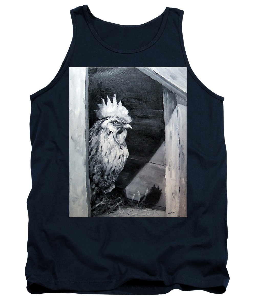 Animal Tank Top featuring the painting King Of The Roost by Diane Kraudelt