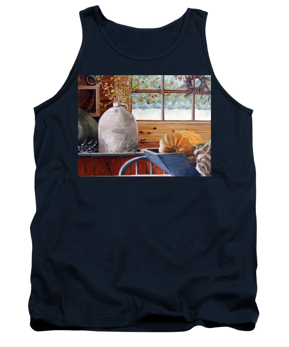 Kitchen Tank Top featuring the painting Kitchen Scene by Richard T Pranke