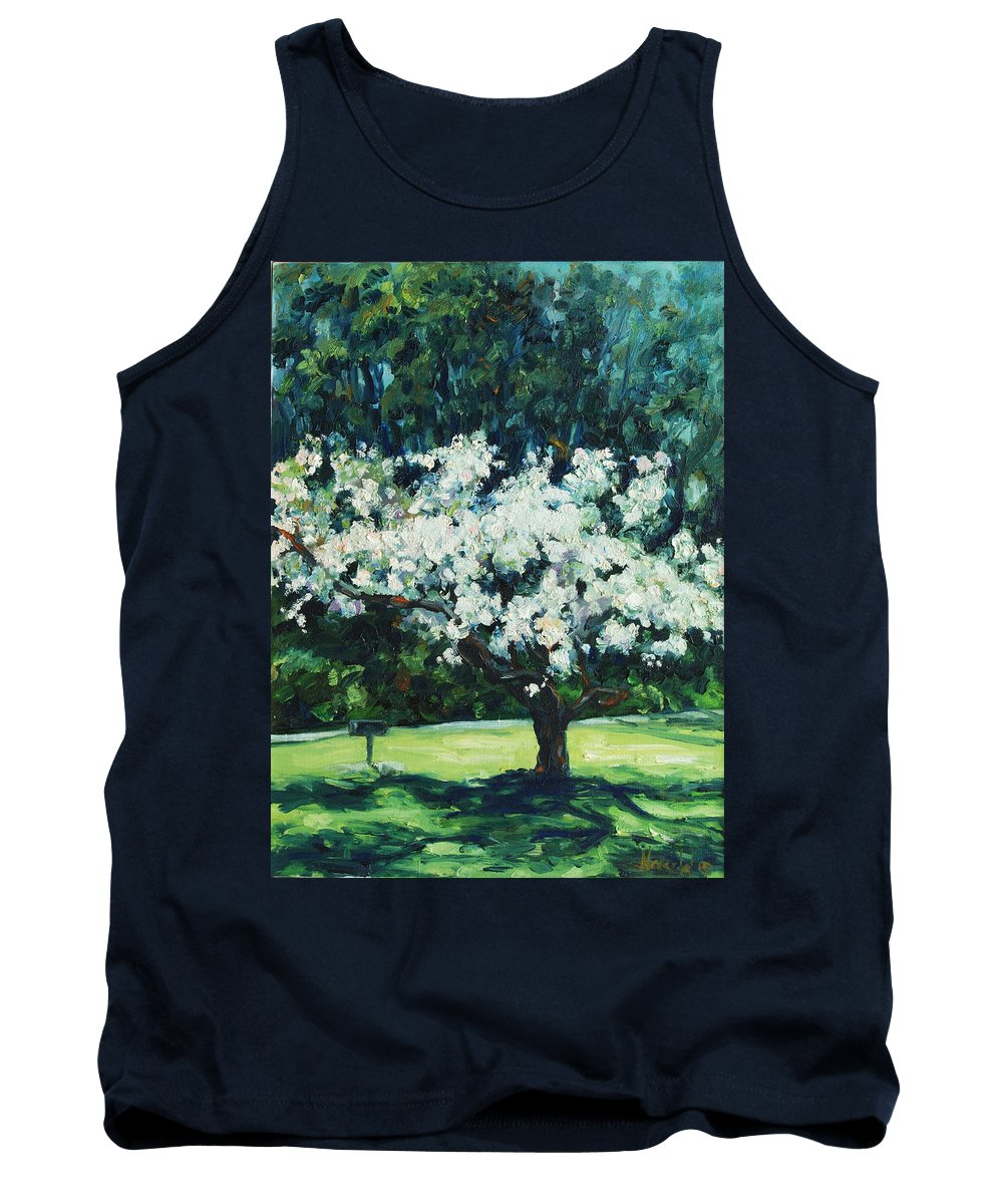 San Francisco Tank Top featuring the painting Kwanzan I by Rick Nederlof