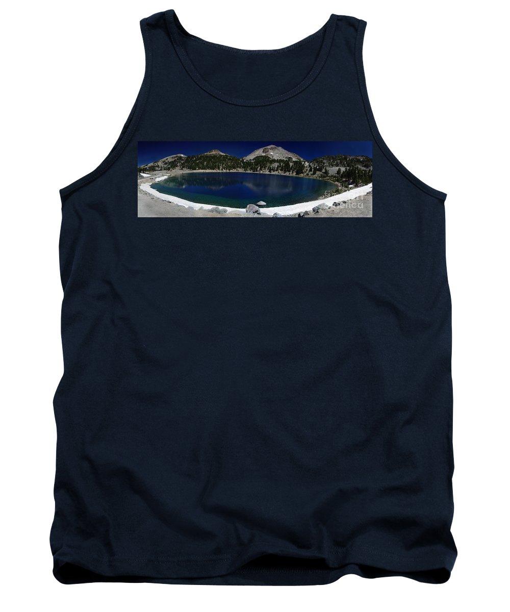 Mirror Tank Top featuring the photograph Lake Helen Lassen by Peter Piatt