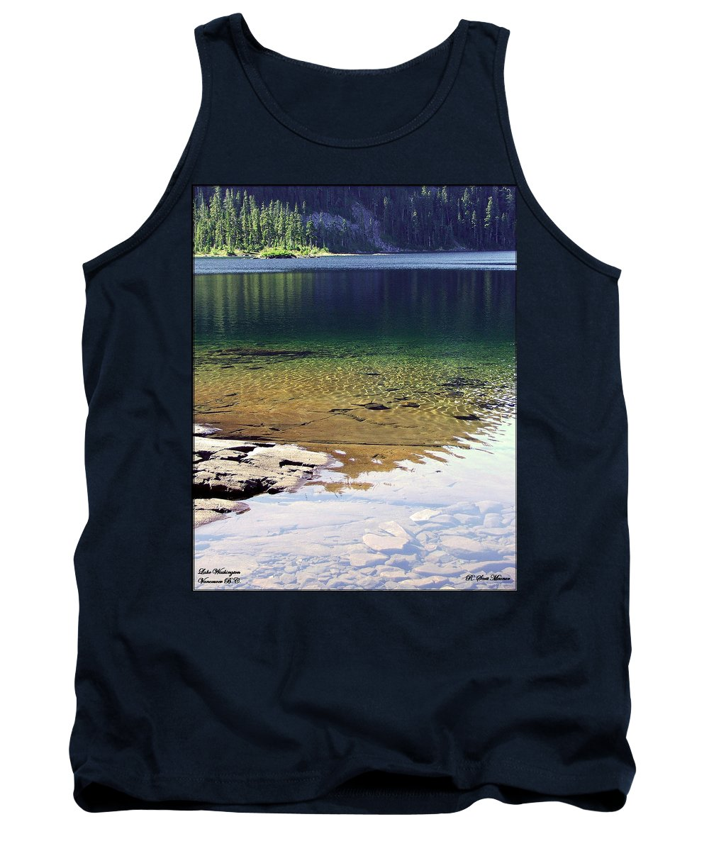 Vancouver B.c. Tank Top featuring the photograph Lake Washington by Robert Meanor