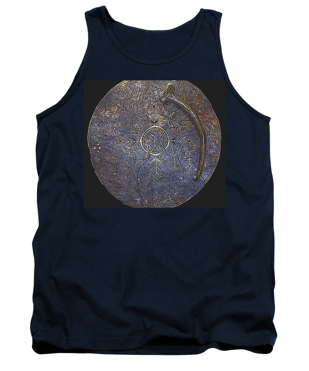 Lapland Tank Top featuring the photograph Lapland Shaman Drum by Merja Waters