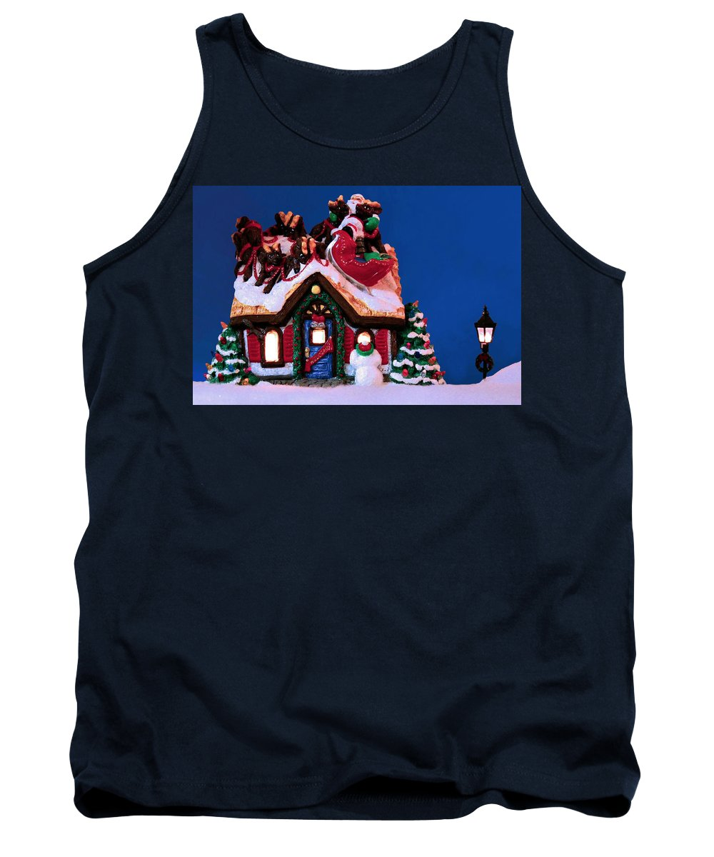 Christmas Tank Top featuring the photograph Last Stop For Santa by Kristin Elmquist