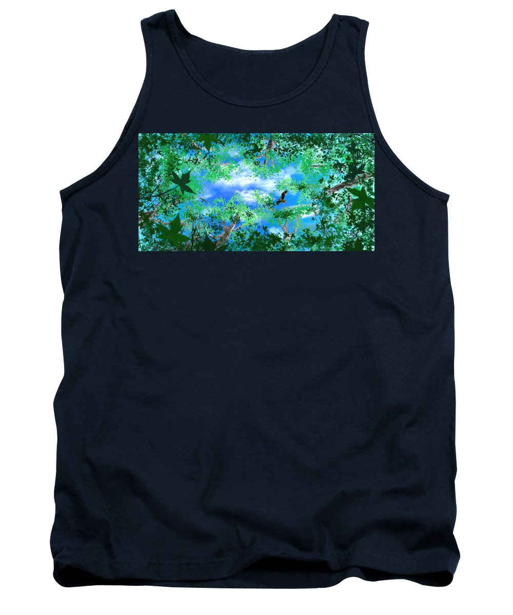 Skyscape Tank Top featuring the digital art Laying On A Hammock by Steve Karol