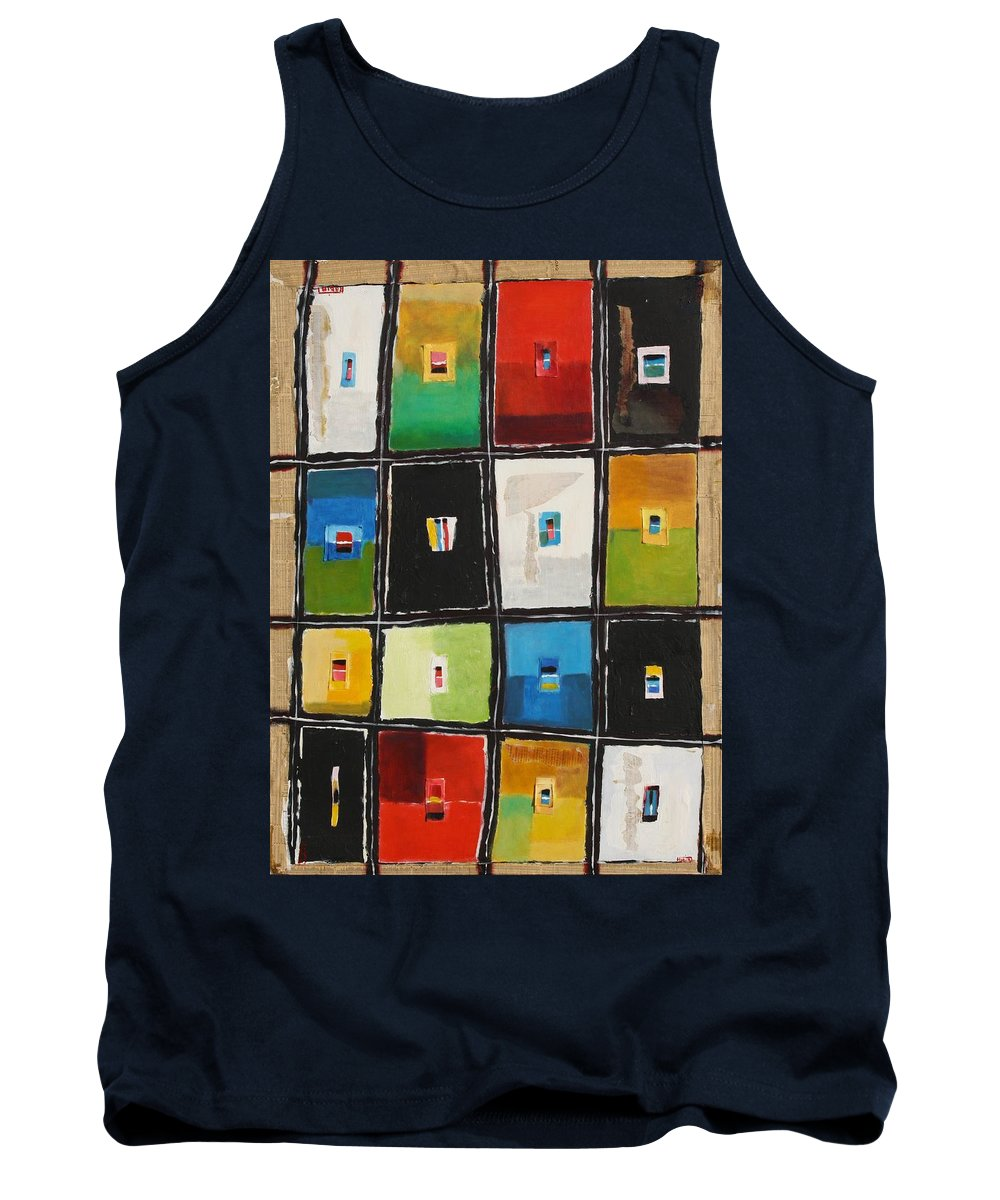 Abstract Tank Top featuring the painting Le Language Des Couleurs by Habib Ayat