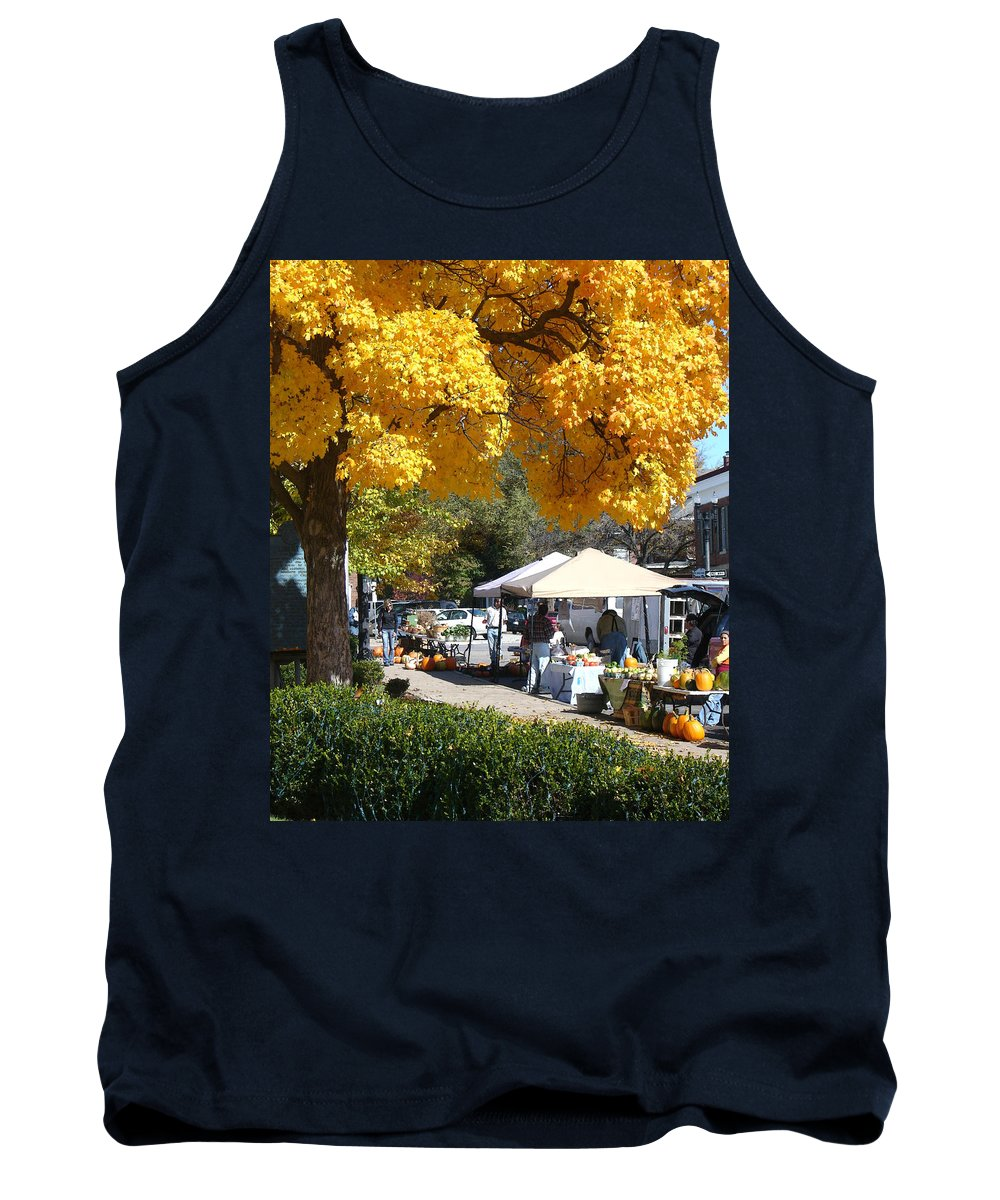 Fall Tank Top featuring the photograph Liberty Farmers Market by Steve Karol
