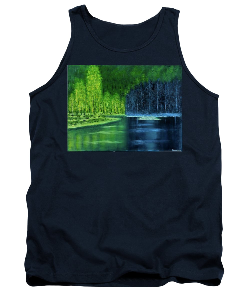 Landscape Tank Top featuring the painting Light And Shadow by Nissan Rabin
