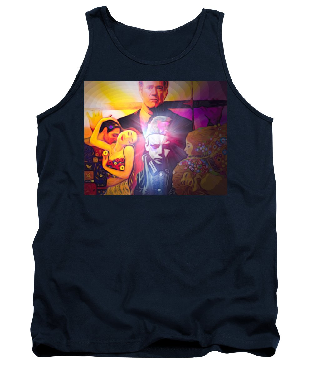 Famous Tank Top featuring the digital art Lights Rays From Randomly Selected by Algirdas Lukas