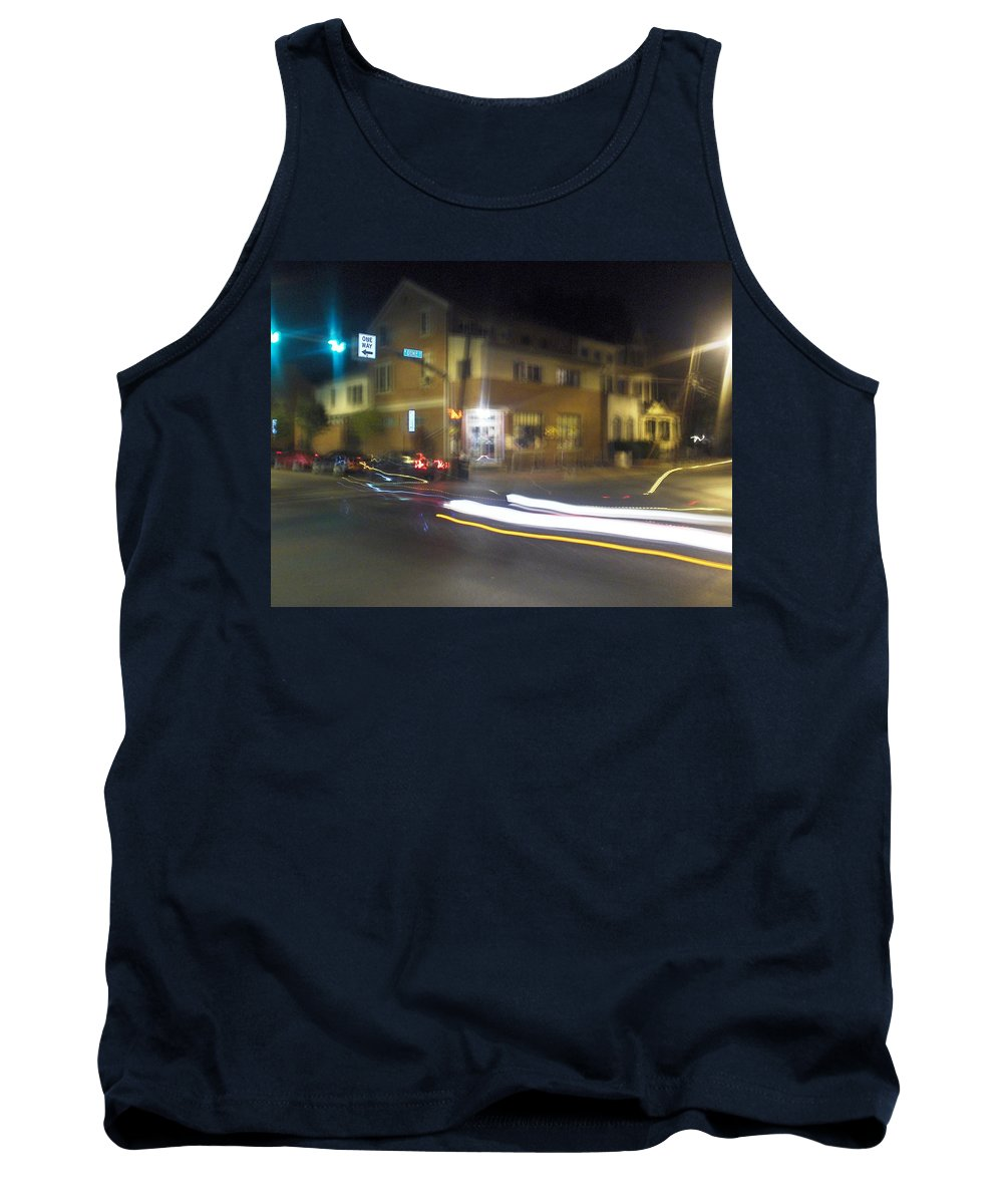 Photograph Tank Top featuring the photograph Lights That Race by Thomas Valentine