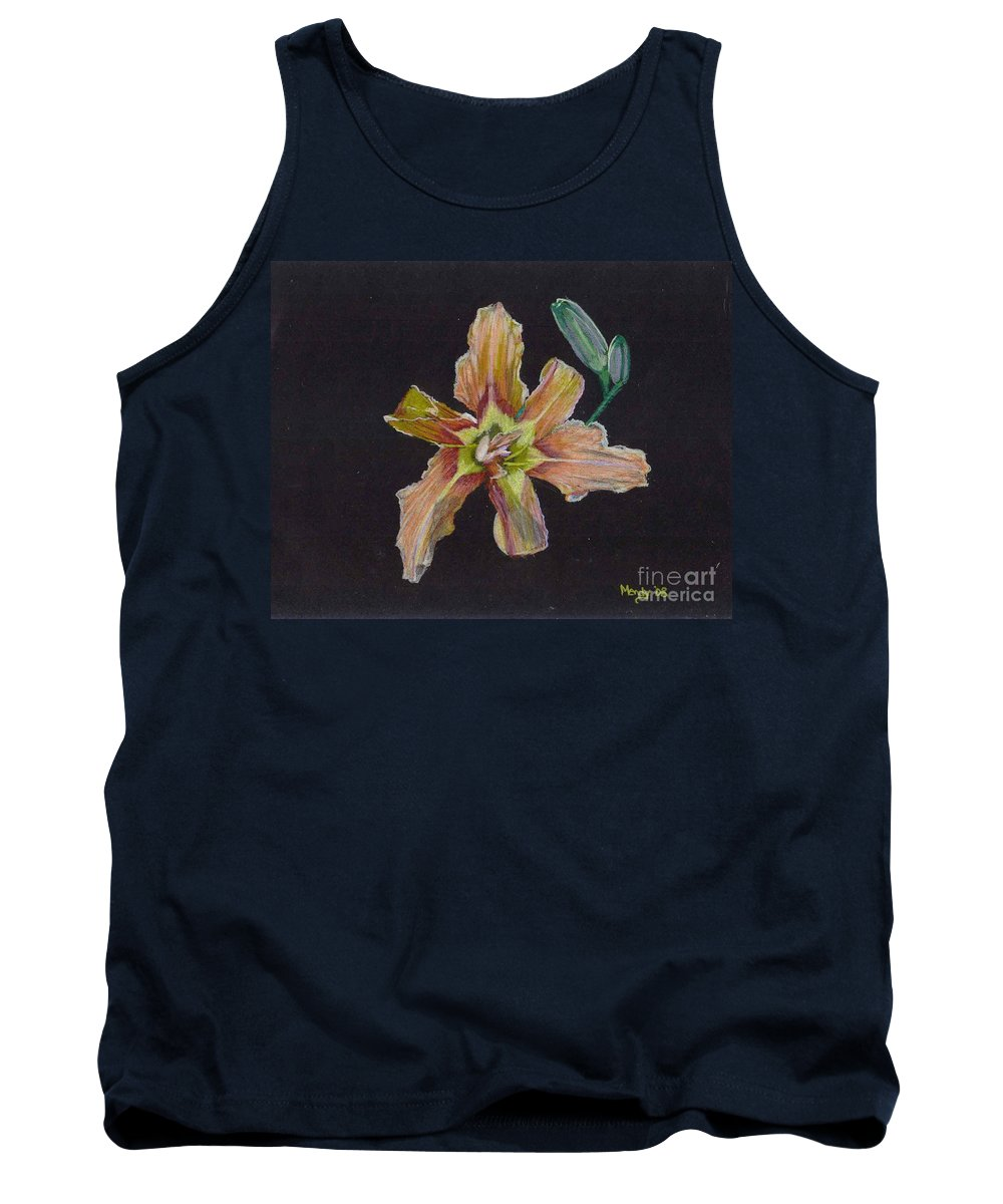Lily Tank Top featuring the pastel Lily 2 by Mendy Pedersen