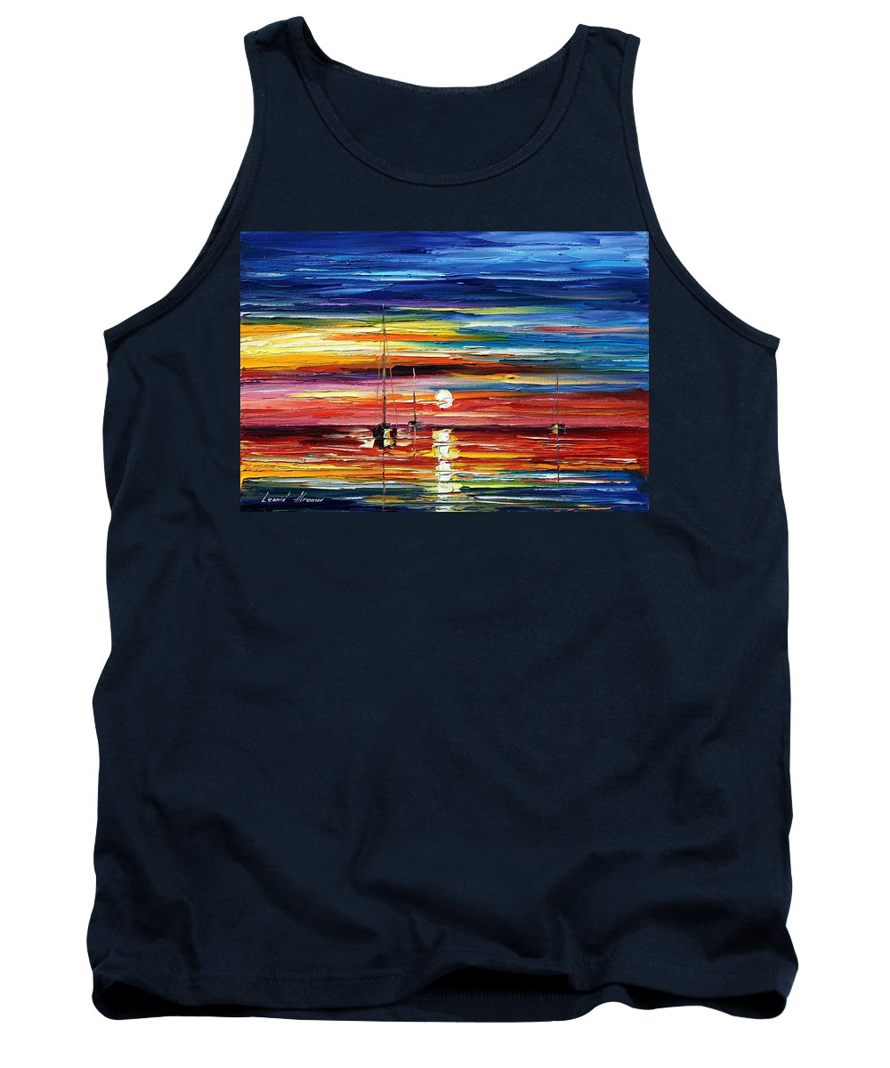 Boat Tank Top featuring the painting Little Boat by Leonid Afremov