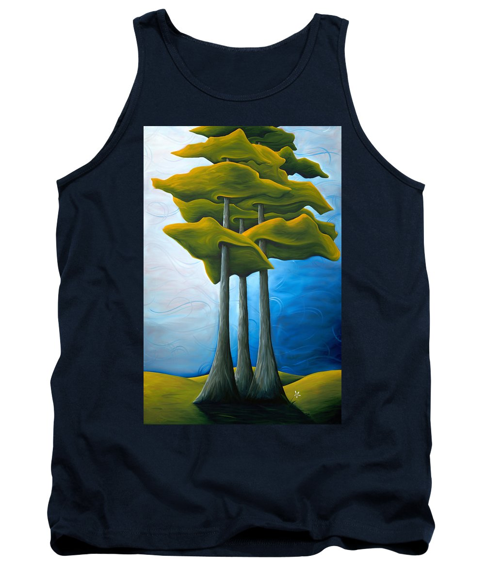 Landscape Tank Top featuring the painting Living In The Shadow by Richard Hoedl