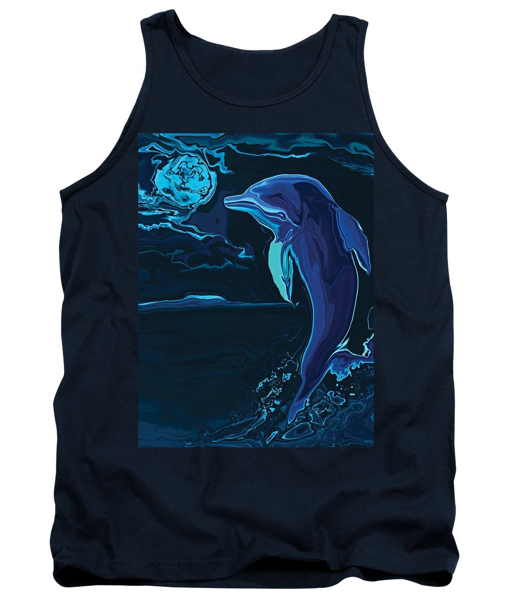 Animal Tank Top featuring the digital art Lonely Tonight by Rabi Khan