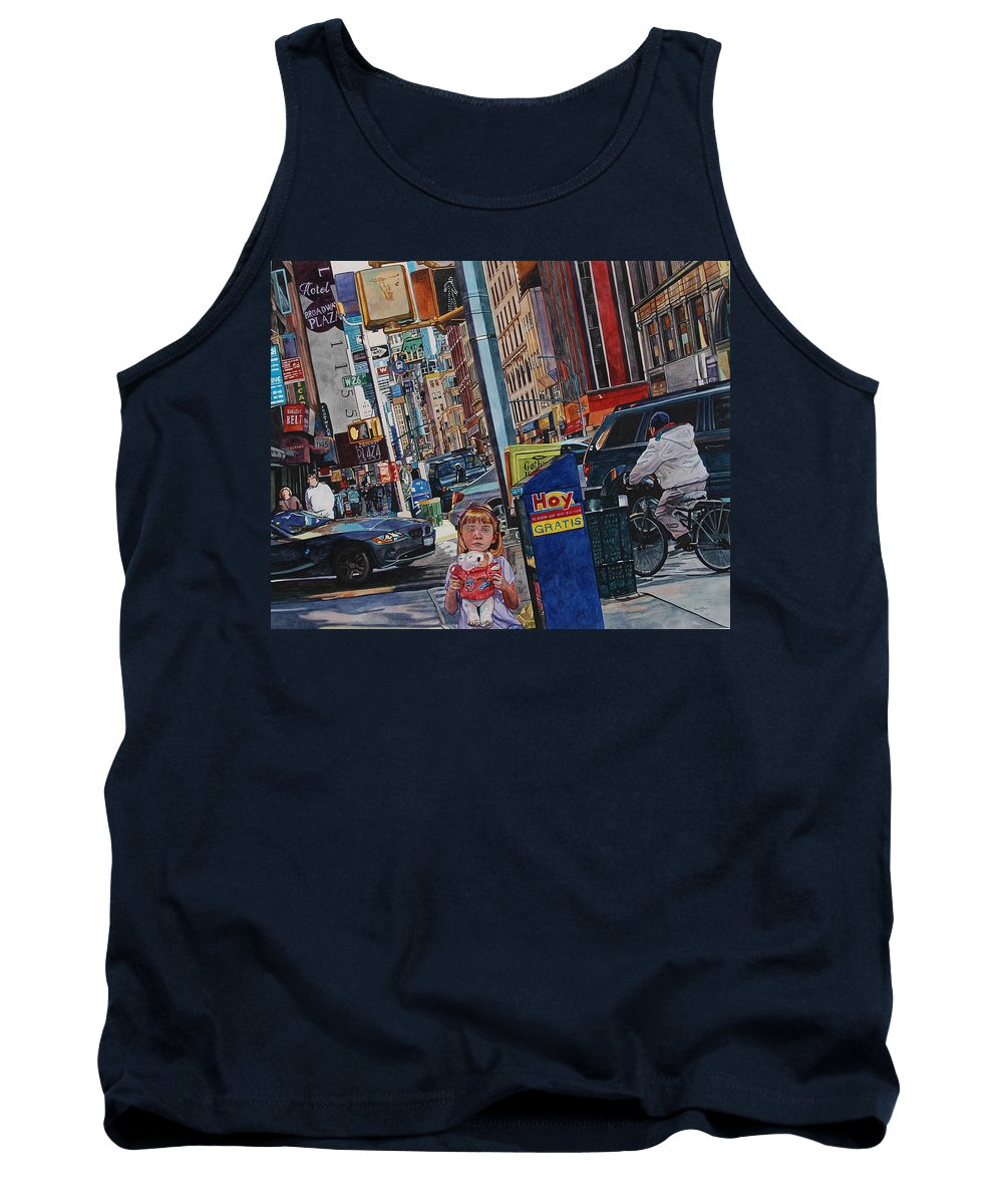 City Tank Top featuring the painting Lost by Valerie Patterson