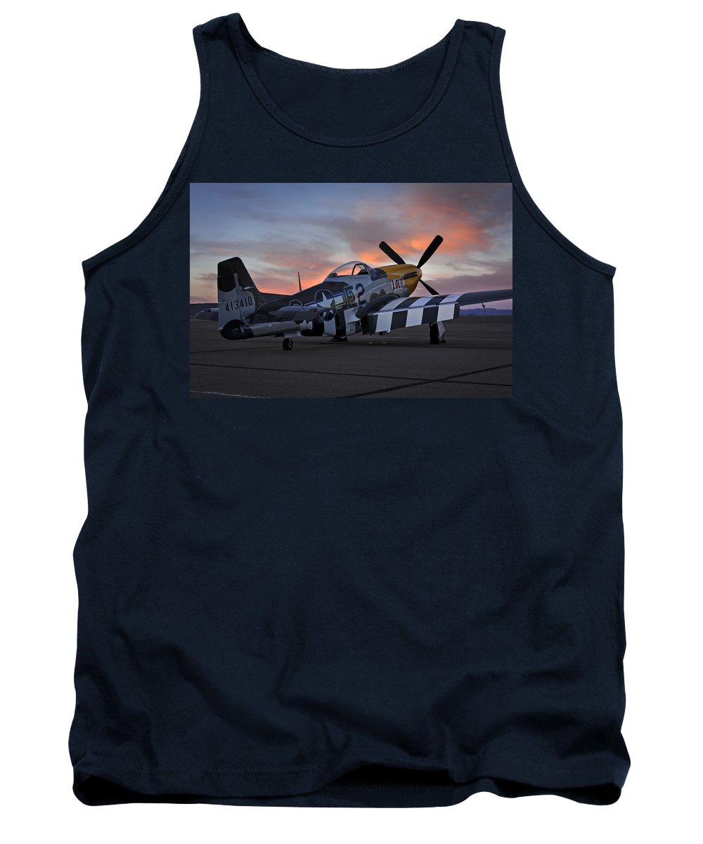 Airplane Tank Top featuring the photograph Lou Iv At Sunset by Rick Pisio