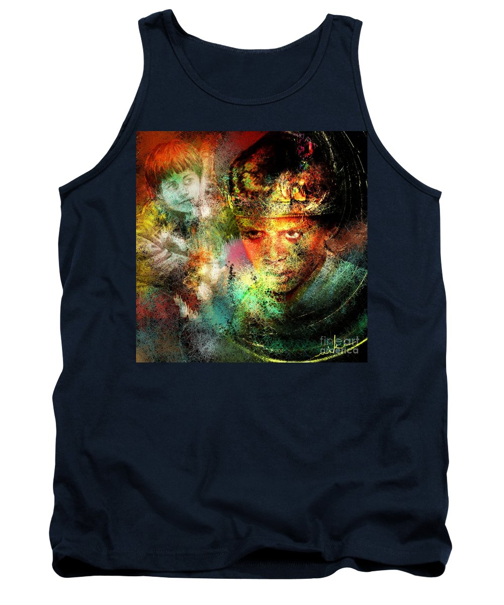 Portrait Tank Top featuring the painting Love For The Boy King by Miki De Goodaboom