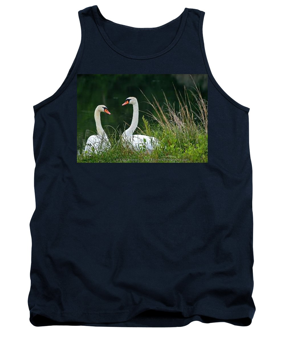 Clay Tank Top featuring the photograph Loving Swans by Clayton Bruster