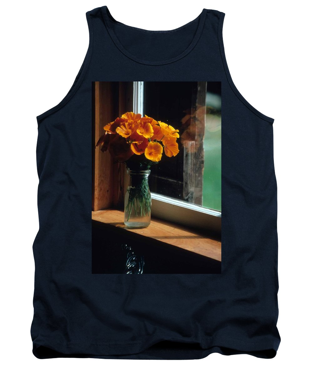 Maine Windowsill Tank Top featuring the photograph Maine Windowsill by Laurie Paci