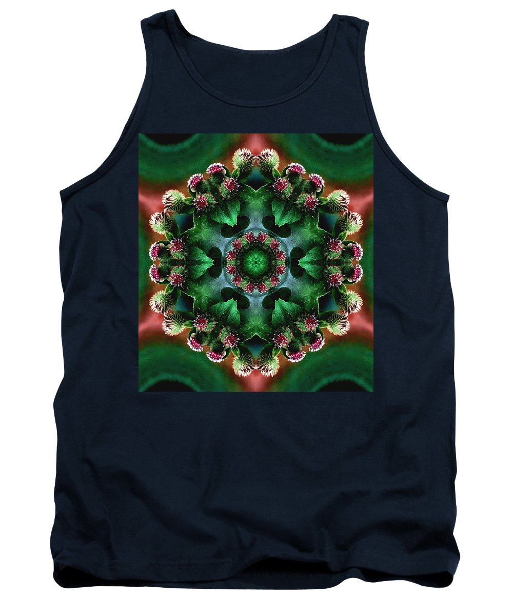 Plants Tank Top featuring the photograph Mandala Bull Thistle by Nancy Griswold