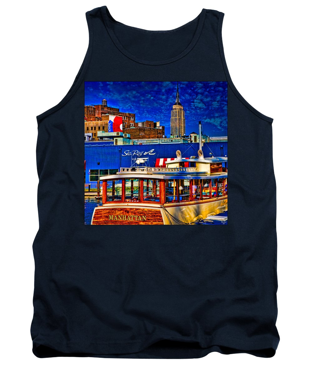 Hdr Tank Top featuring the photograph Manhattan by Chris Lord