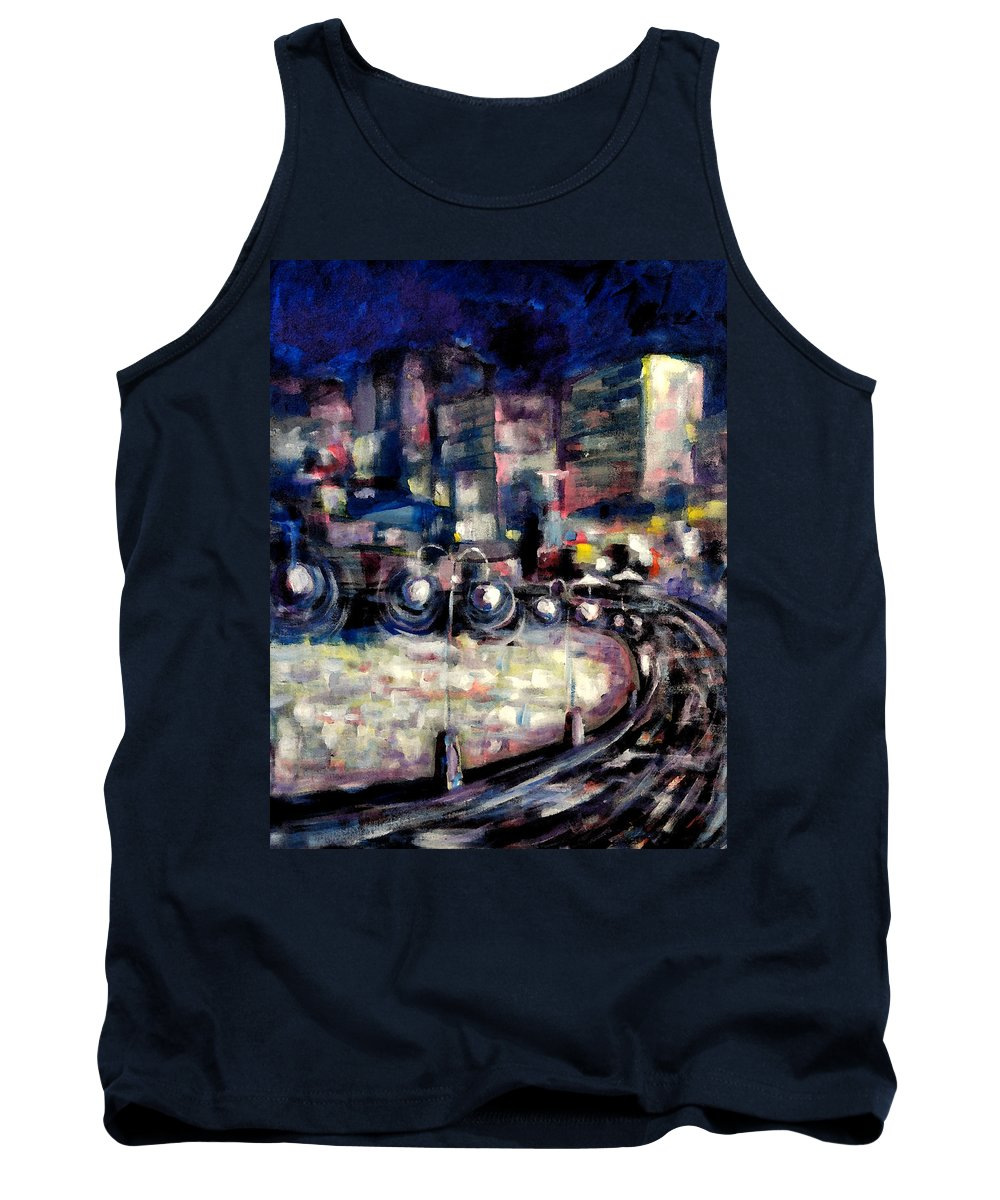 Australia Tank Top featuring the painting Manly by Giro Tavitian