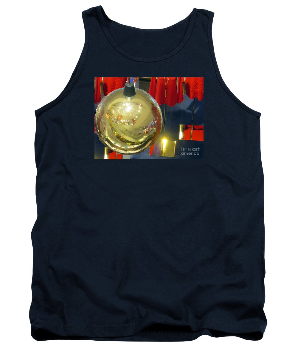 Christmas Tank Top featuring the photograph Mannequins And Ornament by Rick Locke