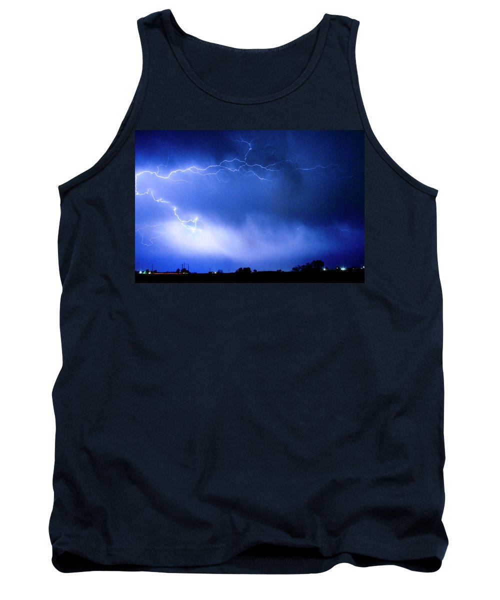 Bo Insogna Tank Top featuring the photograph May Showers Two In Color - Lightning Thunderstorm 5-10-2011 by James BO Insogna