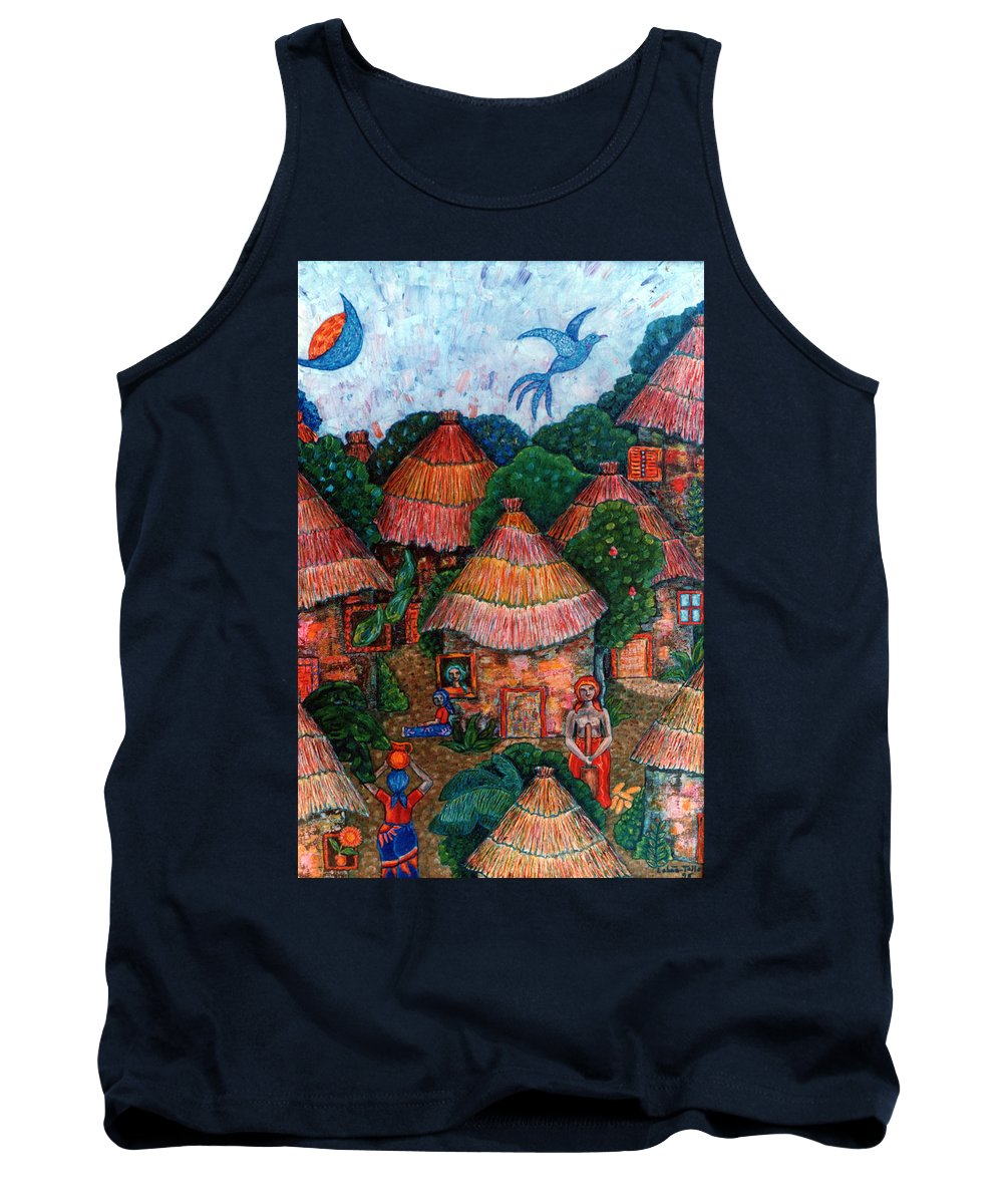 Africa Tank Top featuring the painting Maybe That Was My Country by Madalena Lobao-Tello