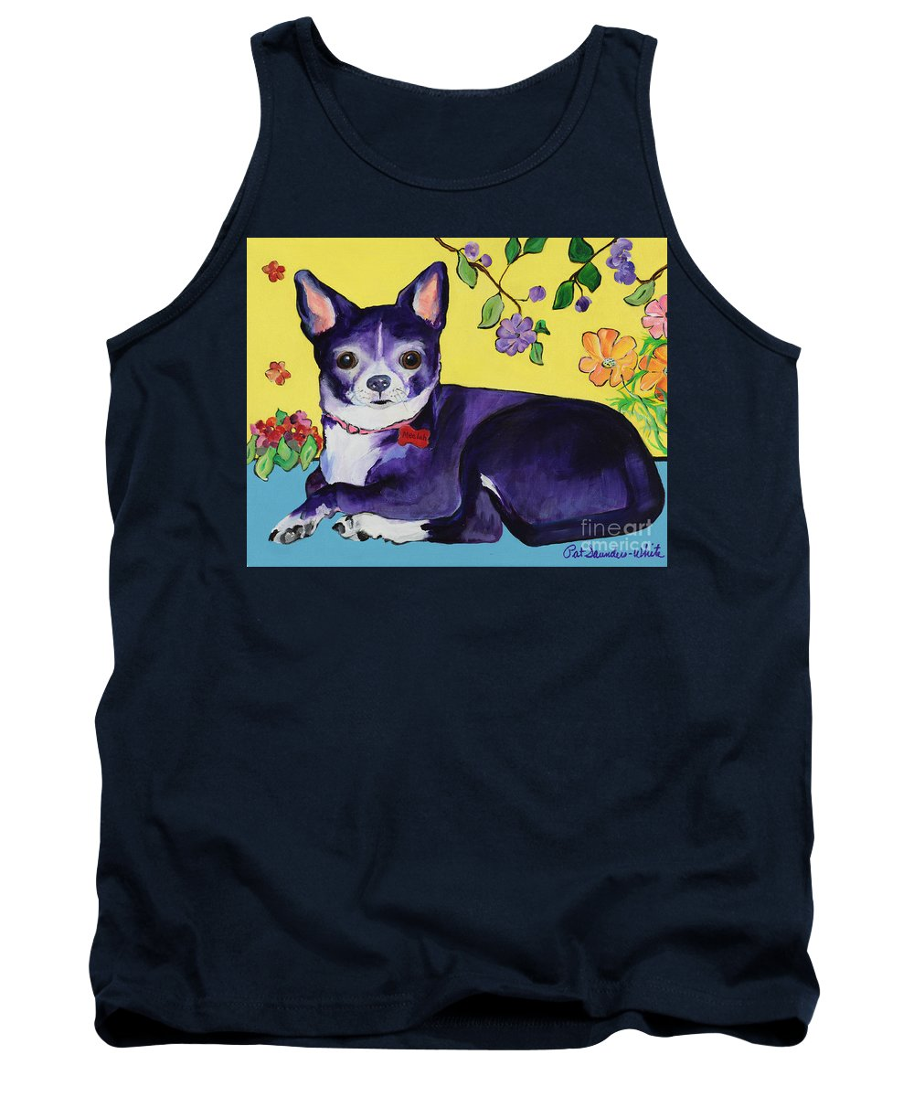 Tank Top featuring the painting Meelah by Pat Saunders-White
