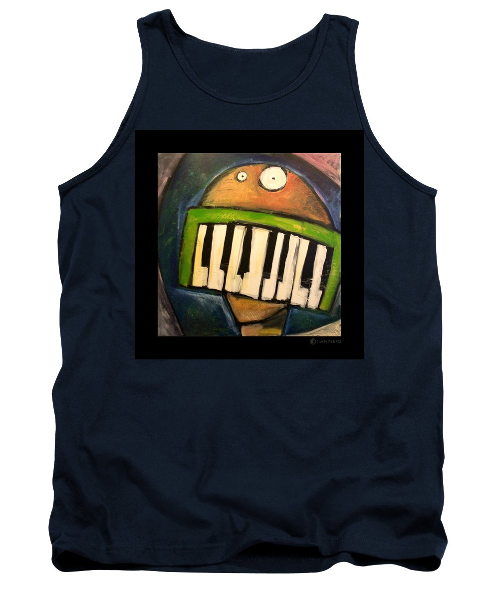 Funny Tank Top featuring the painting Melodica Mouth by Tim Nyberg