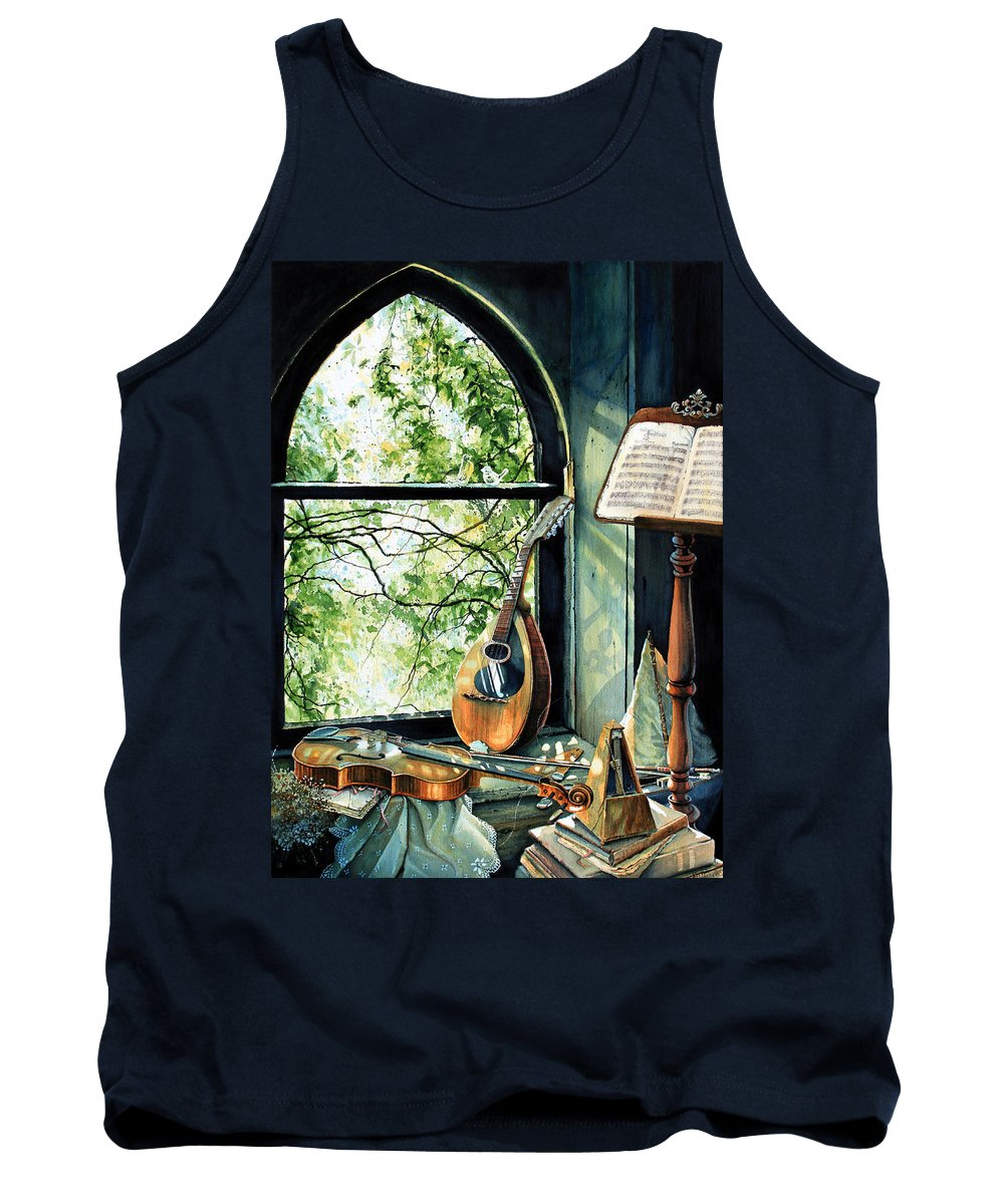 Memories And Music Tank Top featuring the painting Memories And Music by Hanne Lore Koehler