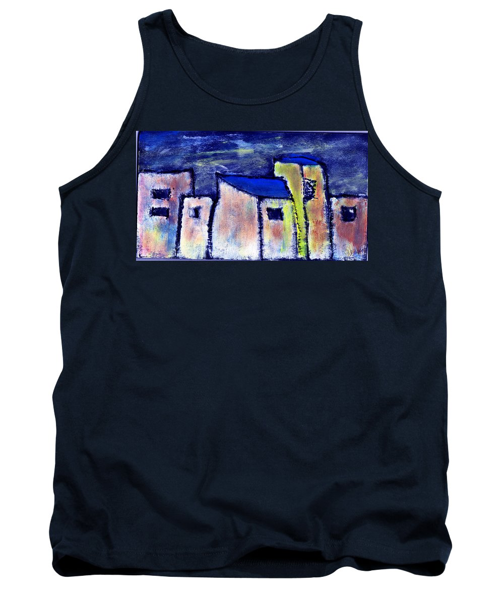 Buidings Tank Top featuring the painting Memories by Wayne Potrafka