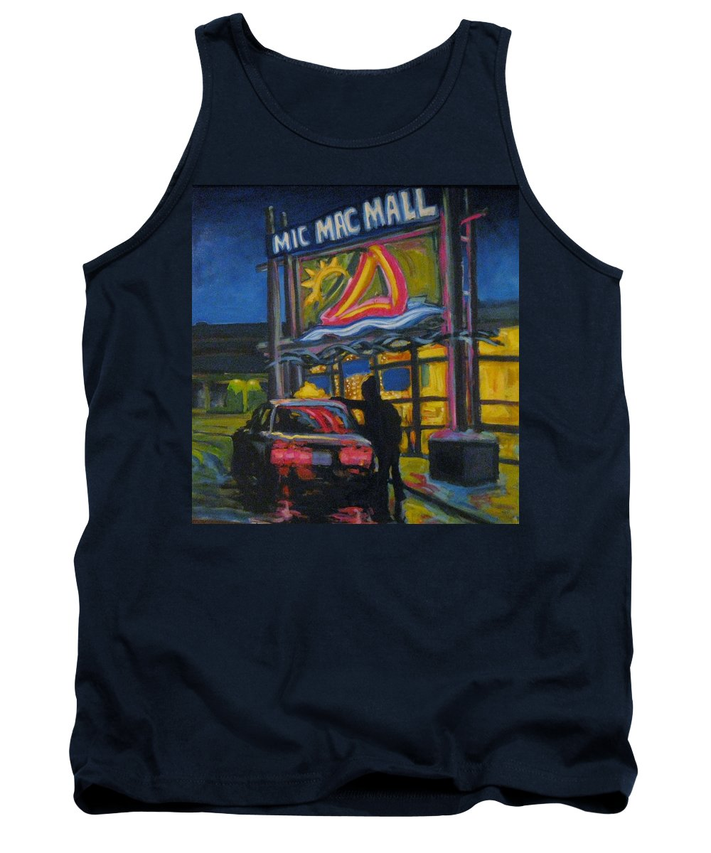 Retail Tank Top featuring the painting Mic Mac Mall Spectre Of The Next Great Depression by John Malone