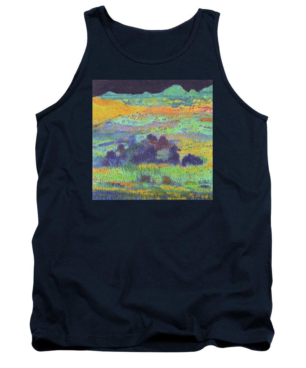 Norh Dakota Tank Top featuring the painting Midnight Prairie Dream by Cris Fulton