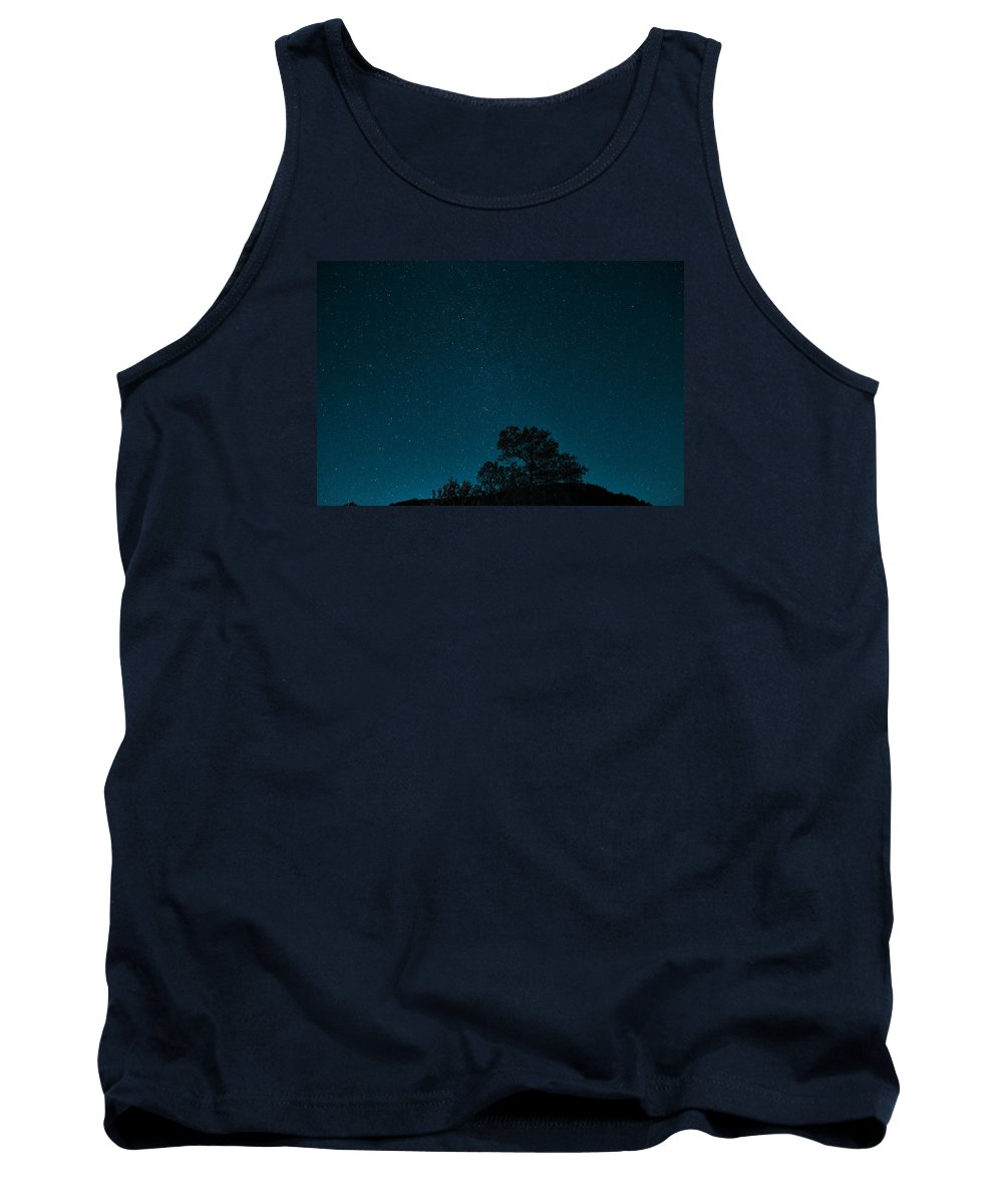 Moose Tank Top featuring the pyrography Milky Way From Earth by Artistic Panda