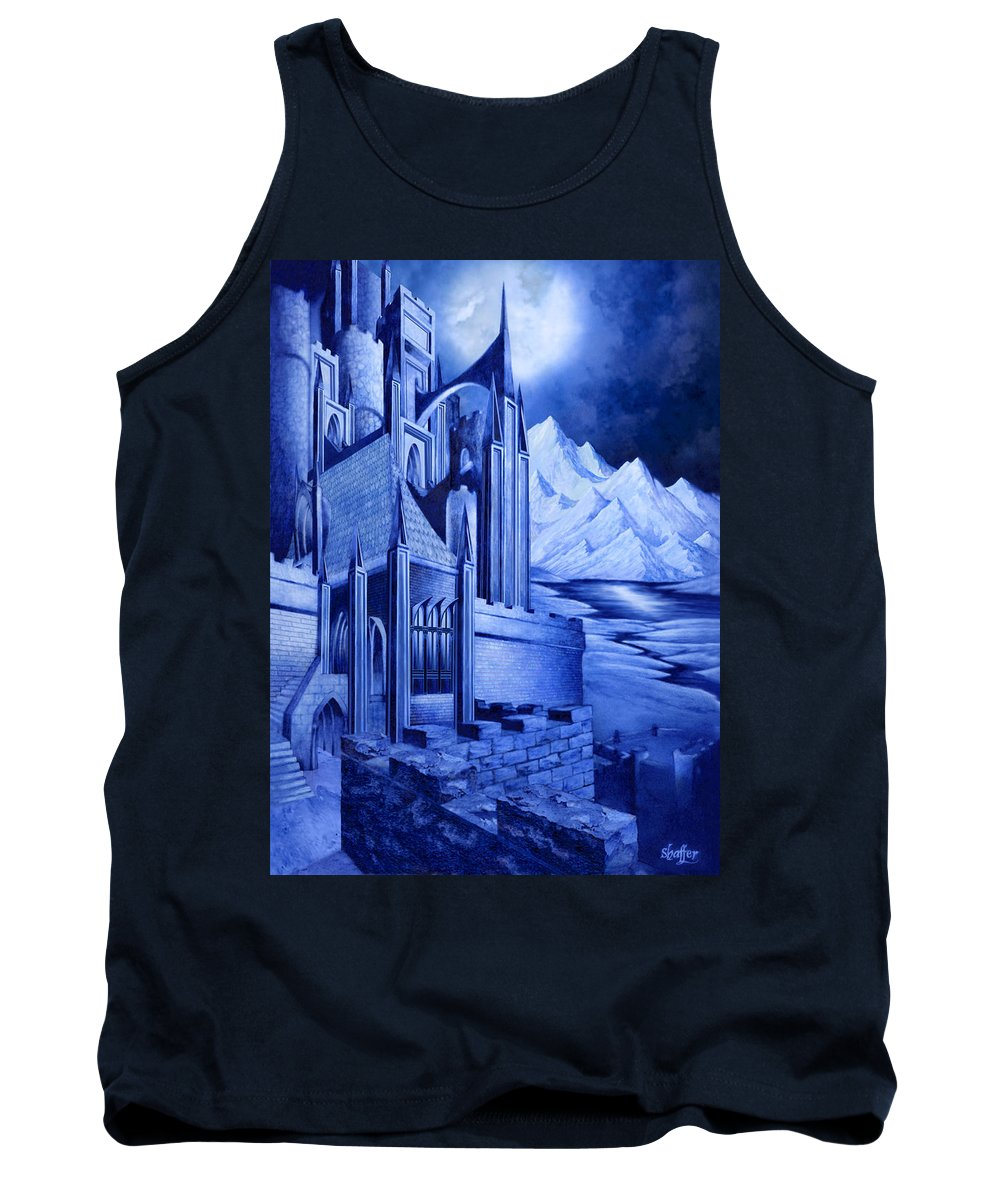 Lord Of The Rings Tank Top featuring the mixed media Minas Tirith by Curtiss Shaffer