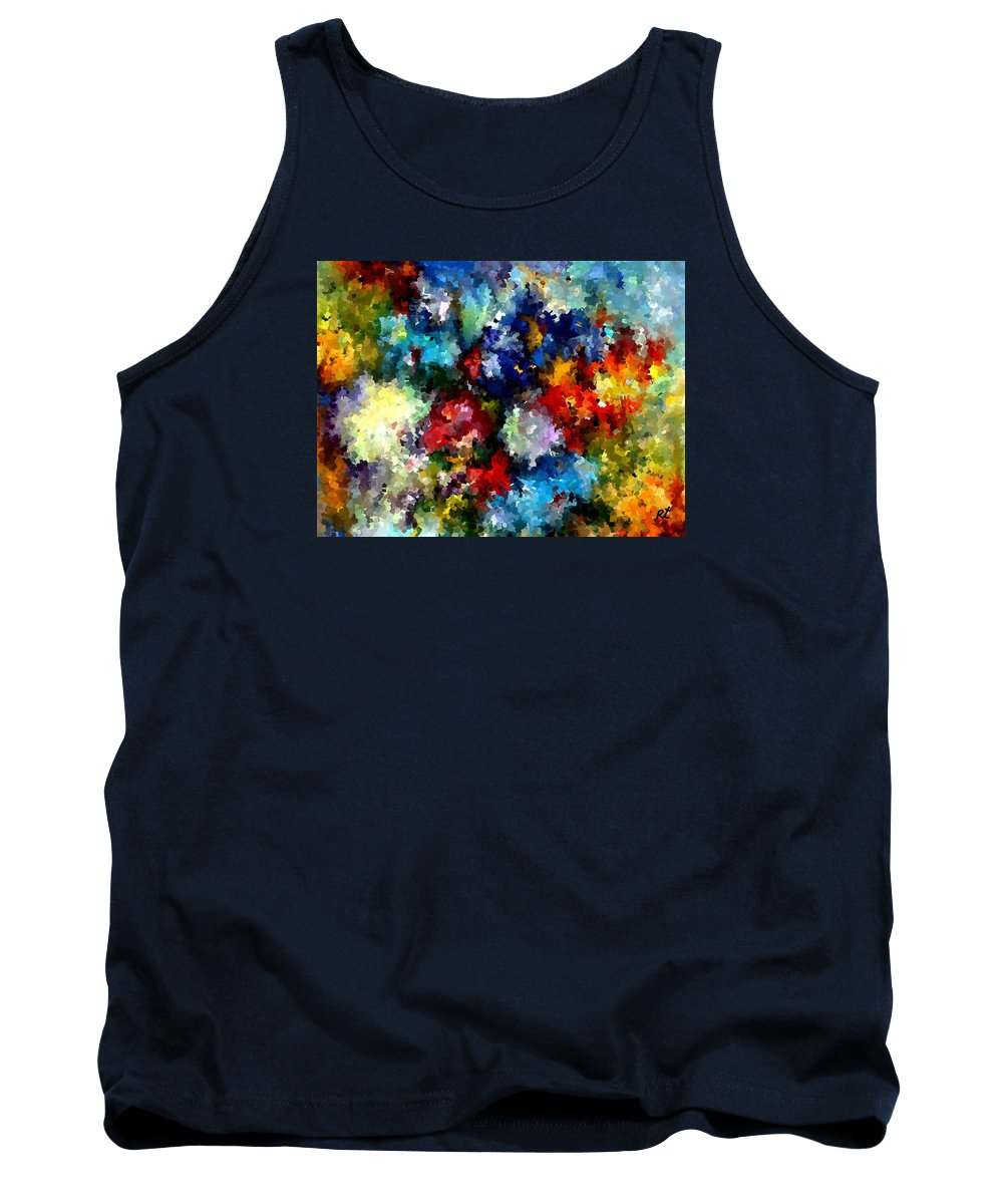 Contemporary Tank Top featuring the painting Modern Composition 03 by Rafi Talby