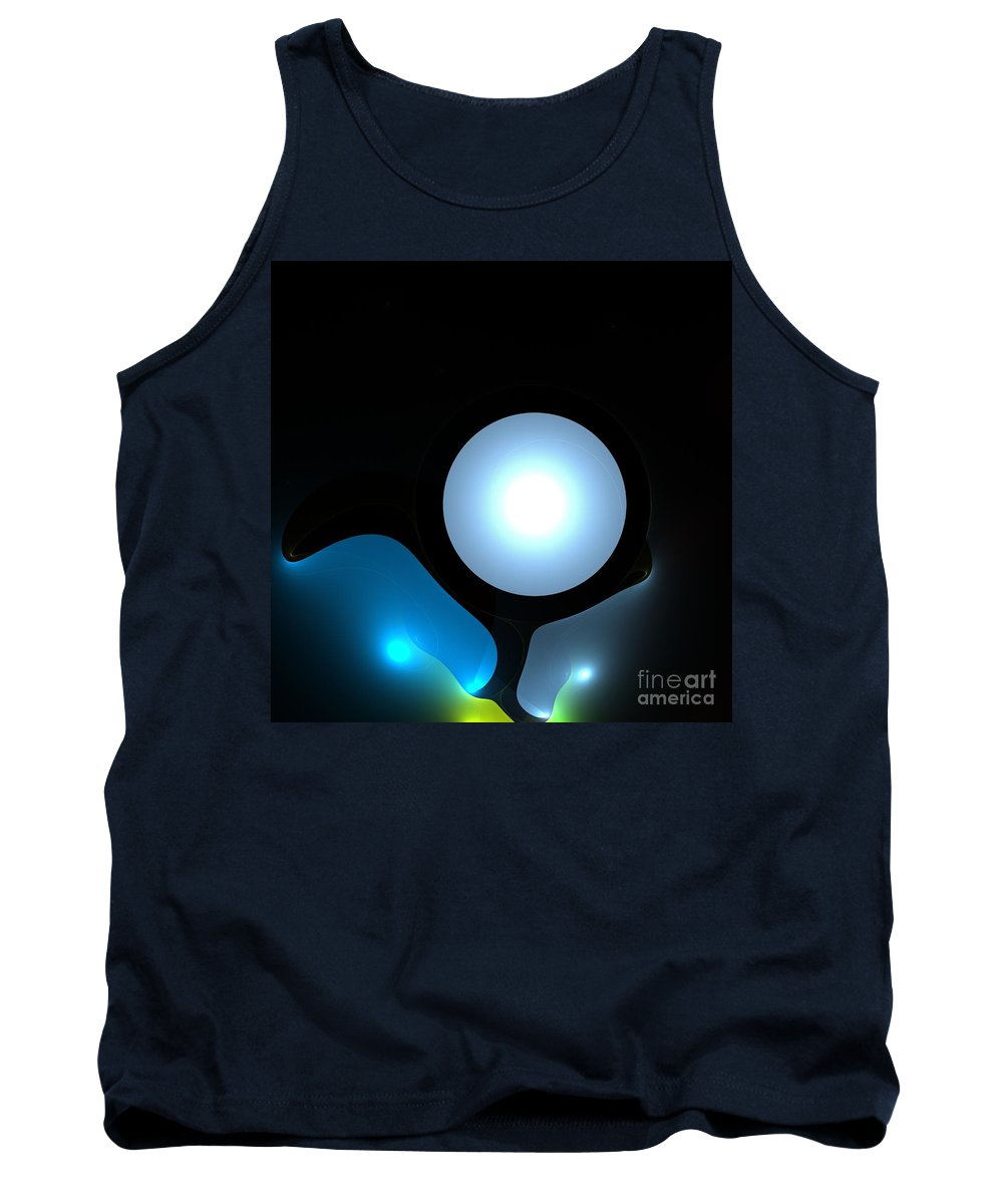 Moon  Tank Top featuring the digital art Moon by Steve K