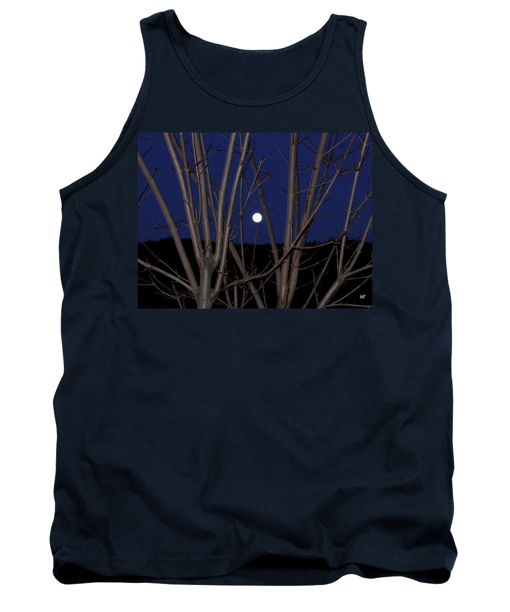 Moon Tank Top featuring the photograph Moonrise by Will Borden