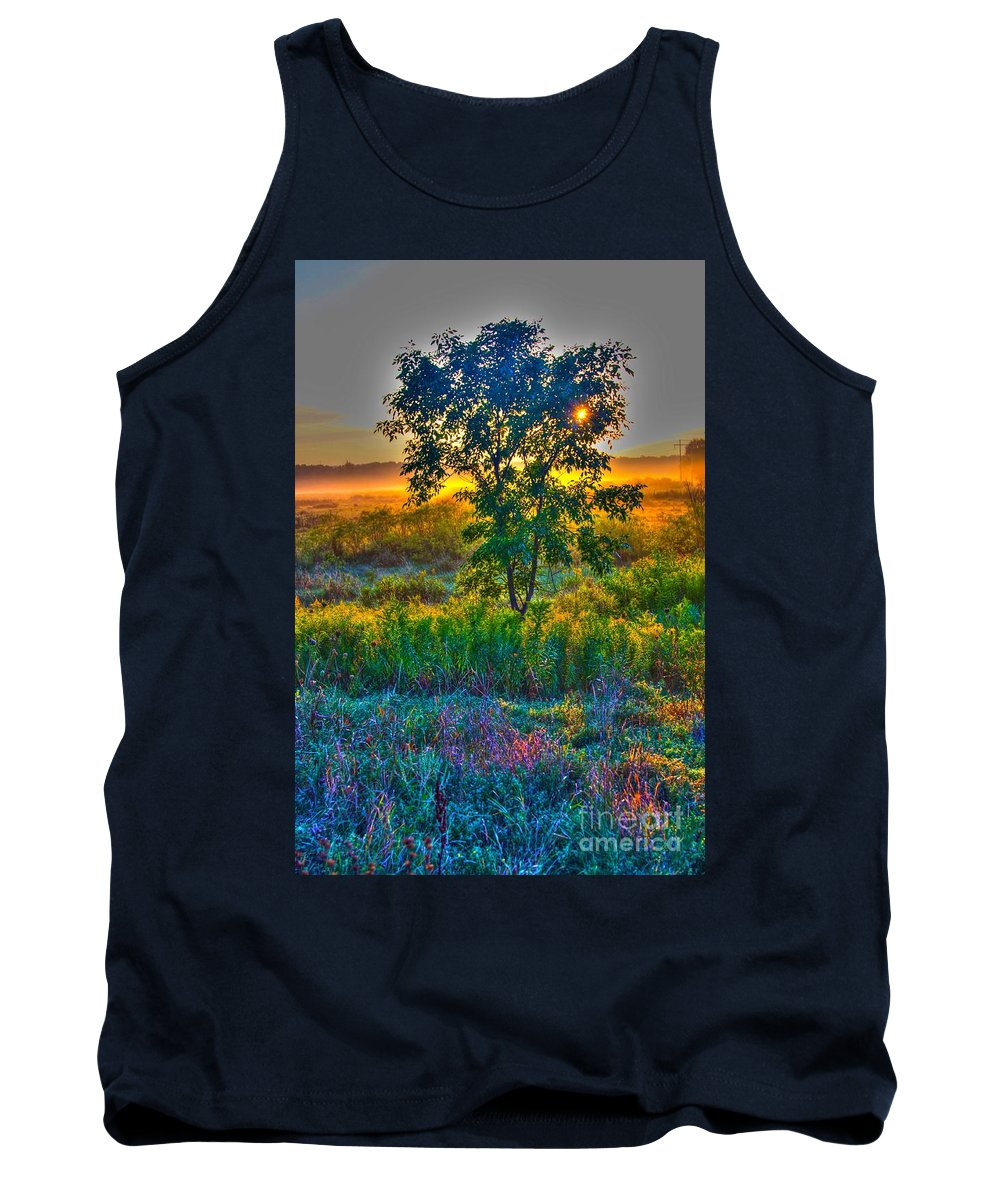 Sun Rise Tank Top featuring the photograph Morning Color-4 by Robert Pearson