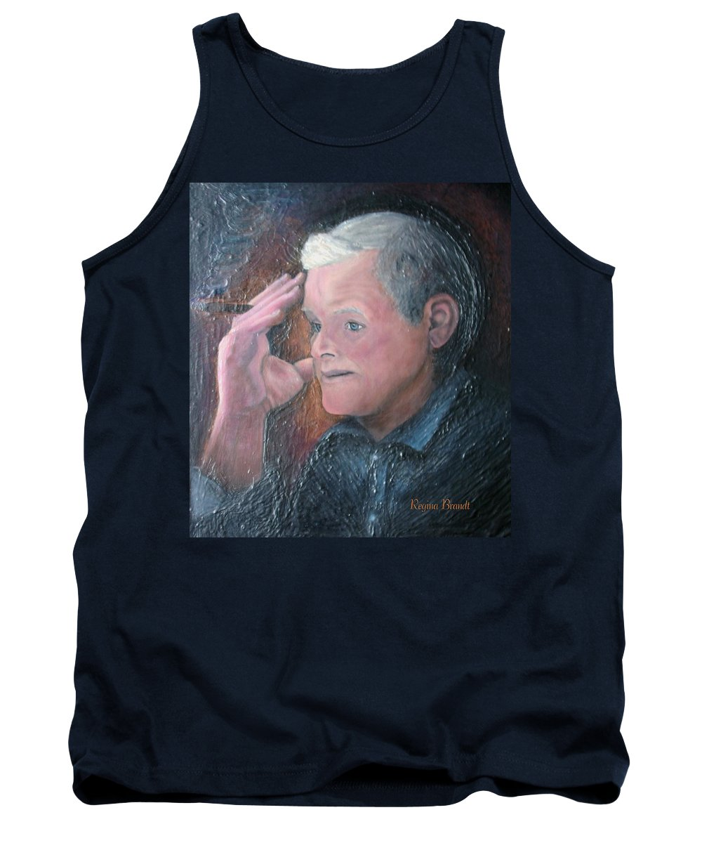 Portrait Tank Top featuring the painting Morris by Regina Brandt