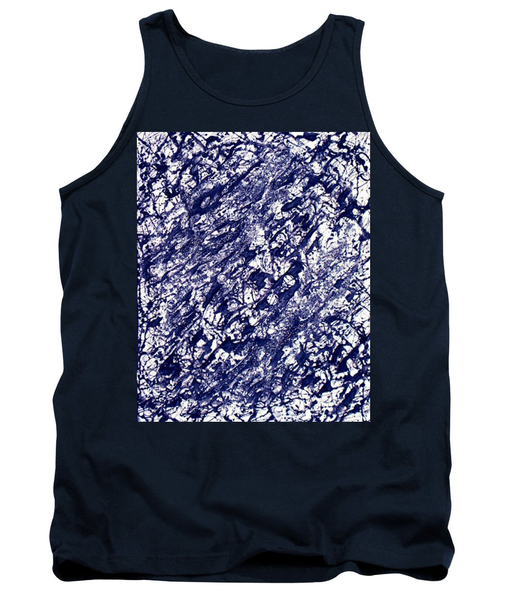 Moveonart! Digital Gallery Tank Top featuring the painting Moveonart Black And White Textured 2 by Jacob Kanduch