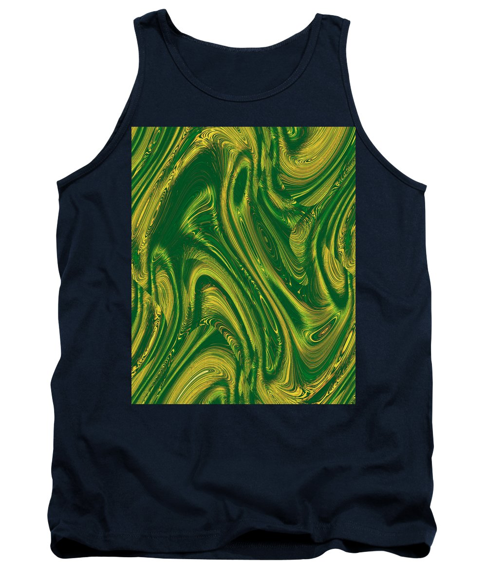 Moveonart! Digital Gallery Tank Top featuring the digital art Moveonart Opportunity Within Chaos by Jacob Kanduch